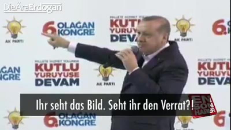 Erdogan rastet komplett aus und schreit Israel ist ein Terrorstaat.