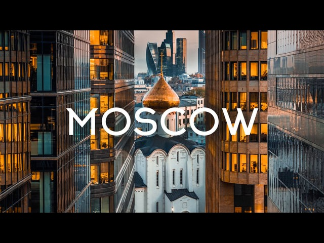 Moscow Russia Aerial 5K