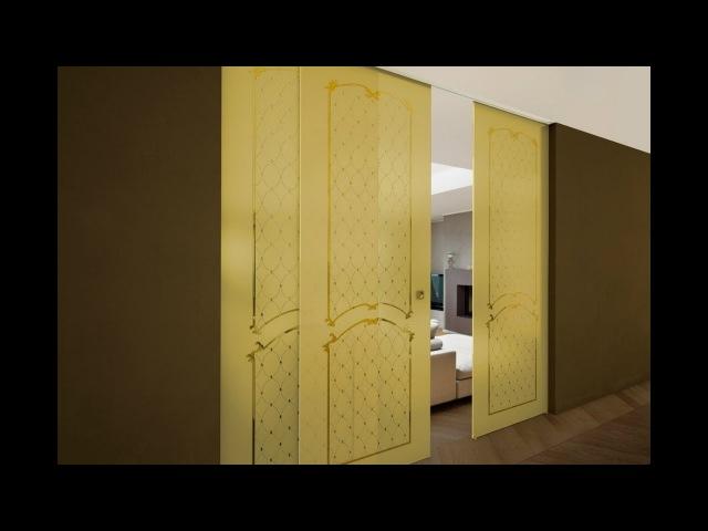 Пескоструйная обработка зеркала и стекла (художественное матирование). Золотое матирование.