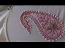 Hand embroidery designs-chickenkari/shadow work/luknowi embroidery with gotta patti work