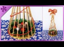 DIY How to make paper wicker Christmas tree (ENG Subtitles) - Speed up 419