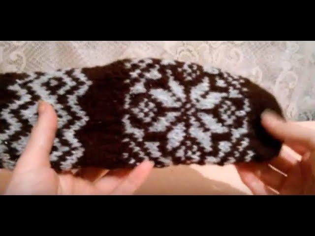 Носки с жаккардовым узором Снежинка