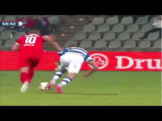 Hakim Ziyech scored a 50 yard chip , FC Twente vs De Graafschap in the Dutch Cup