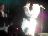 Adam Lambert Gridlock NYE kissing Pamela Anderson