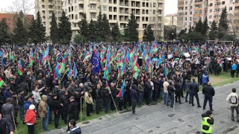Bakıda etiraz mitinqi - 10 mart 2018 - Birinci Hissə