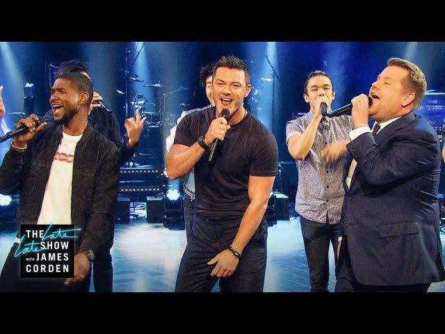 Sexiest Male Vocalist Riff-Off w Usher Luke Evans