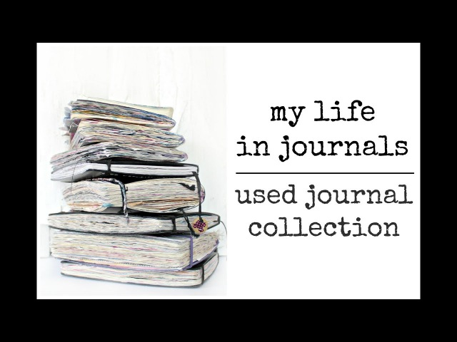 My Journal Collection Flip Through | My life in journals | Journal Prompts | agirlwithajournal