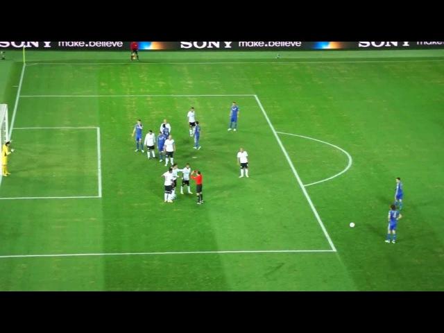 チェルシーFC ダビド・ルイスのフリーキック (COR vs CHE 16.12.2012)