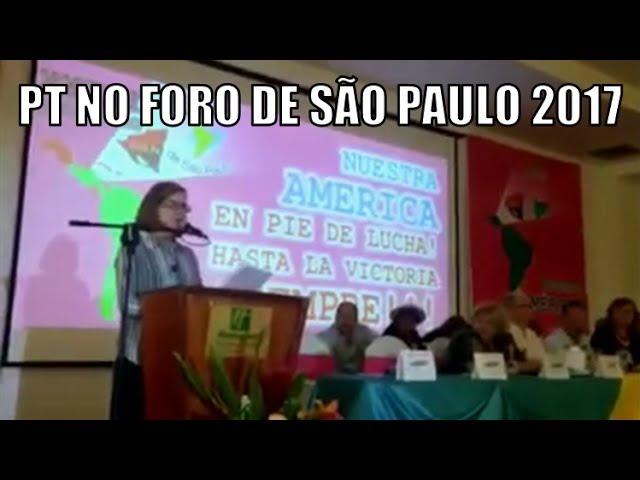 Discurso de Gleisi Hoffmann no Foro de São Paulo 2017