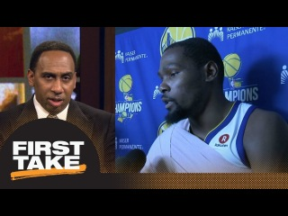 Stephen A. goes off on Kevin Durant: I don't want to hear you miss Steph Curry | First Take | ESPN