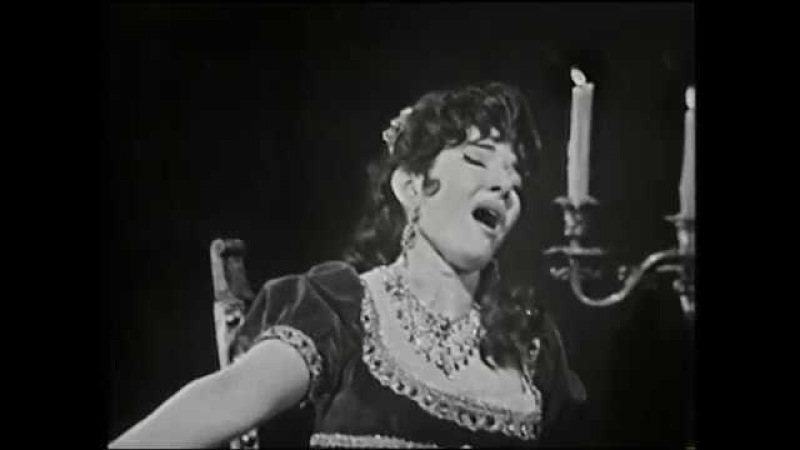 Maria Callas sings Puccini Tosca - Vissi dArte at Covent Garden 1964