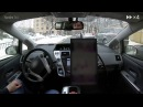 Yandex Self Driving Car Moscow streets after a heavy snowfall
