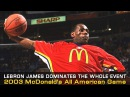 + LeBron James McDonald's All American Game Highlights In 2003!