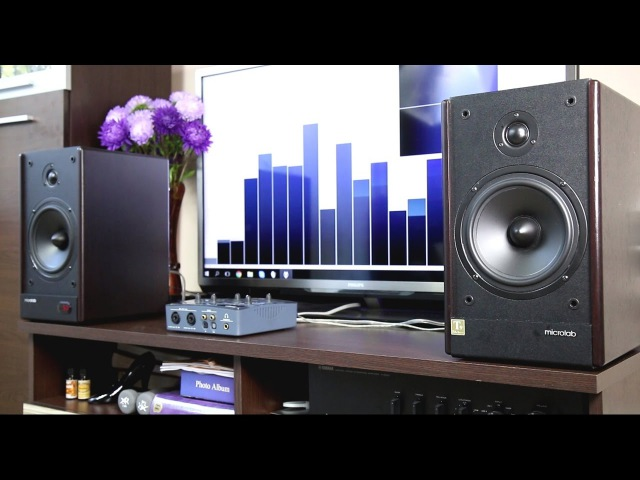 Microlab Solo 6c stereo speakers sound bass test