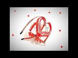 Сердечко из лент на обруче  mk diy  мк от Noel  Heart from ribbons to a hoop