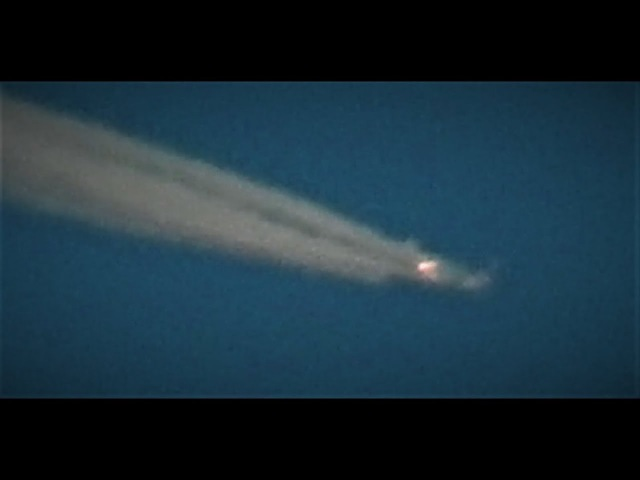 Flaming Orb Holo Projected Plane Exploding Sky Entity Plasma UFO Orb Swarms