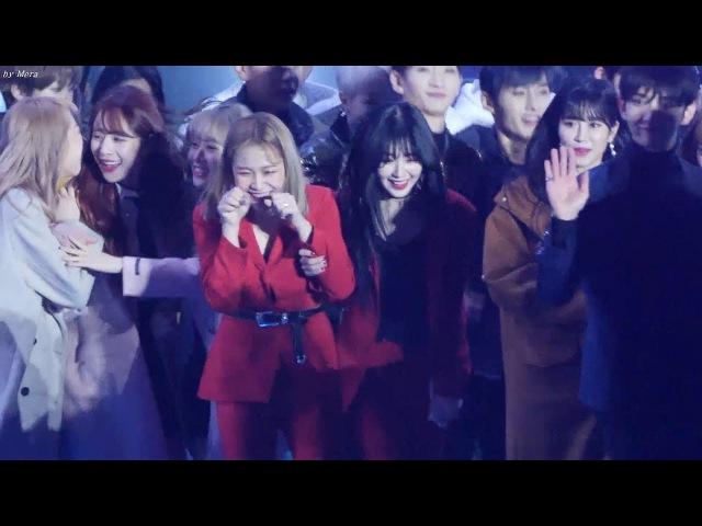180210 레드벨벳 (Red Velvet) 전출연진 엔딩 (Ending) 강추위에 떠는 아이린,예리 폭죽소리에깜4