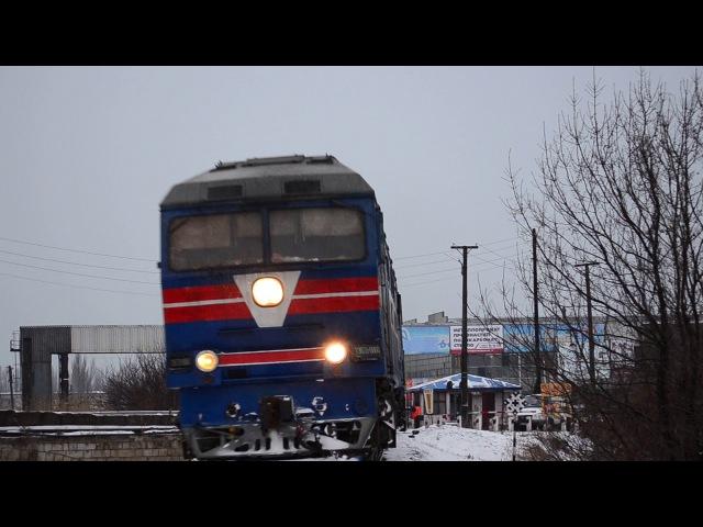 ТЭП70-0060 с поездом №608 сообщением Бердянск-пологи-Запорожье-1 и приветливый машин...