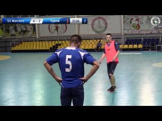 GS Warriors 4-2 Рубеж. DKC чемпионат по мини-футболу 2017/2018. 8-й тур (06.01.2018)