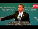 President Obama Makes Historic Speech to America's Students English subtitles