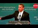 President Obama Makes Historic Speech to America's Students - English subtitles