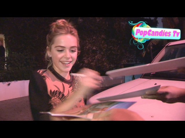 Kiernan Shipka greets fans at ELLE Women In Television Celebration at Sunset Tower WeHo