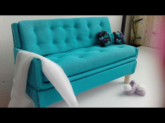 Manualidad : sofá para muñecas barbie ♡ diy:Sofa for barbie dolls
