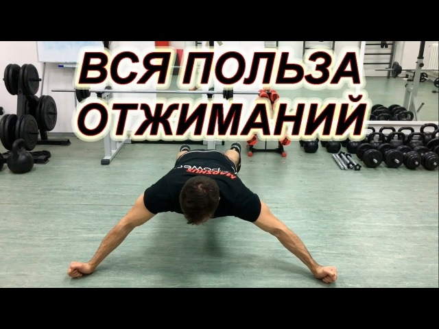 УПРАЖНЕНИЯ ДЛЯ ЗДОРОВЬЯ ОТЖИМАНИЯ ОТ ПОЛА Тренировка отжиманий и их польза