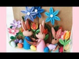 Paper Quilling Easter Bunny Family 3D Learning Video