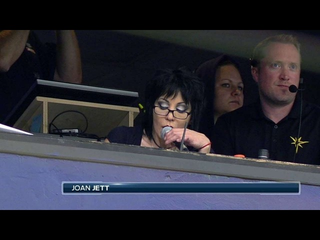 TOR@TB Joan Jett does player introductions for Rays