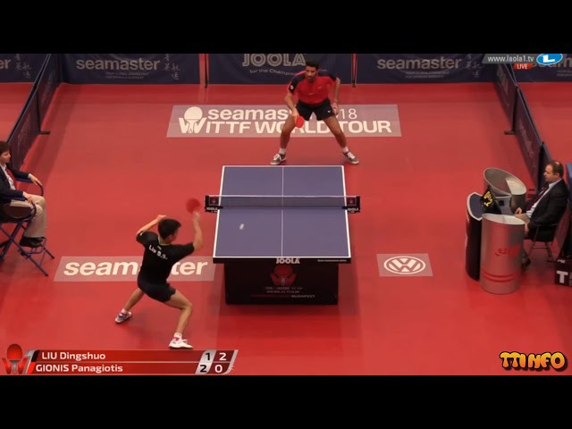 BEST MATCH TODAY Liu Dingshuo vs Gionis Panagiotis (Hungarian Open 2018) MS PRE
