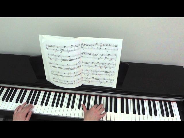 Л Бетховен К Элизе Урок для фортепиано Часть 3