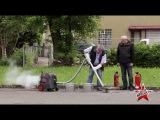 Испытание пылесоса Starmix вода, цемент, горящие угли