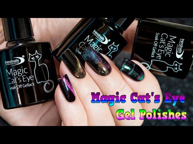 Multichromic Magic Cat's Eye Gel Polishes by Trendnails