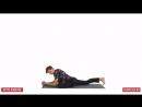 упражнение воин. йога. растяжка. шпагат