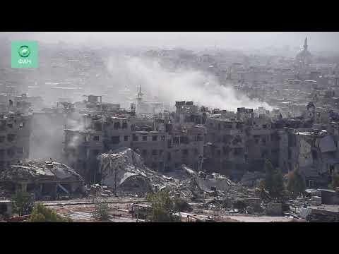 Сирия уничтожает анклав ИГ на юге Дамаска: корреспондент ФАН запечатлел бои в районе Ярмук. Опубликовано: 23 апр. 2018 г.