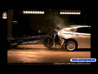 Задний краш тест Toyota Avalon 2018 Hybrid