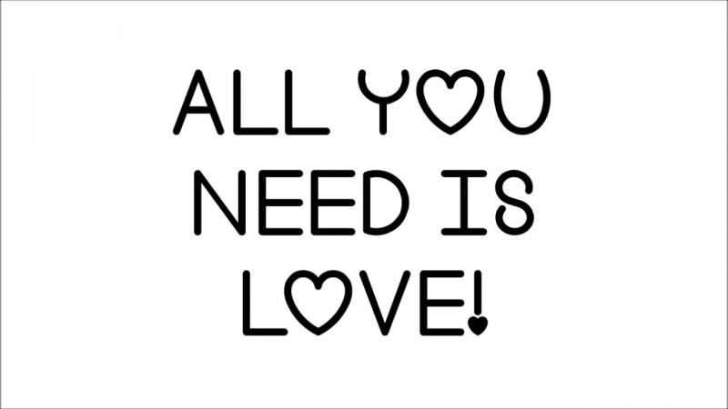 Glee - All You Need Is Love (FULL Lyrics) HD