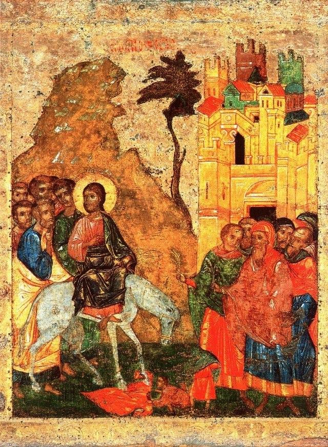Вербное воскресенье: Христос оставляет завещание наследникам NN8UzcYJ7wE