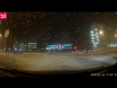 Парень торопился на тренировку, перебежал дорогу на красный и перелетел через авто. Норильск, январь 2018.