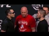 Битва взглядов Хабиба Нурмагомедова и Тони Фергюсона перед UFC222