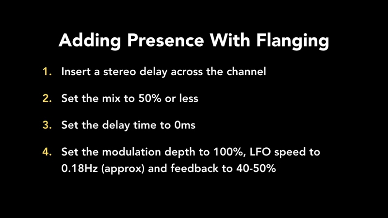 51 - Adding Presence With Flanging
