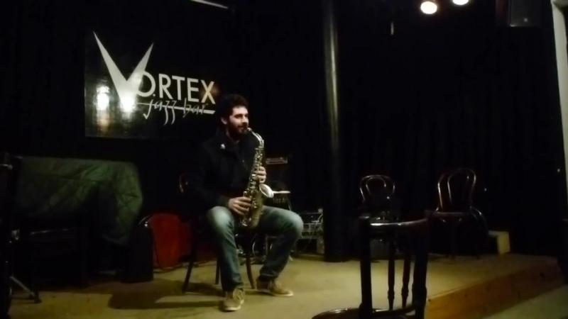 Dario Fariello alto sax at Vortex Jazz Club
