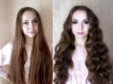 Ксения Саватеева. Яркий образ для подружки невесты. До и после