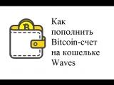 Как пополнить bitcoin-счет на кошельке Waves