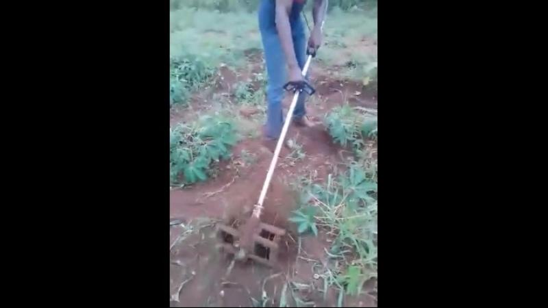 Brush cutter weeding mini tiller