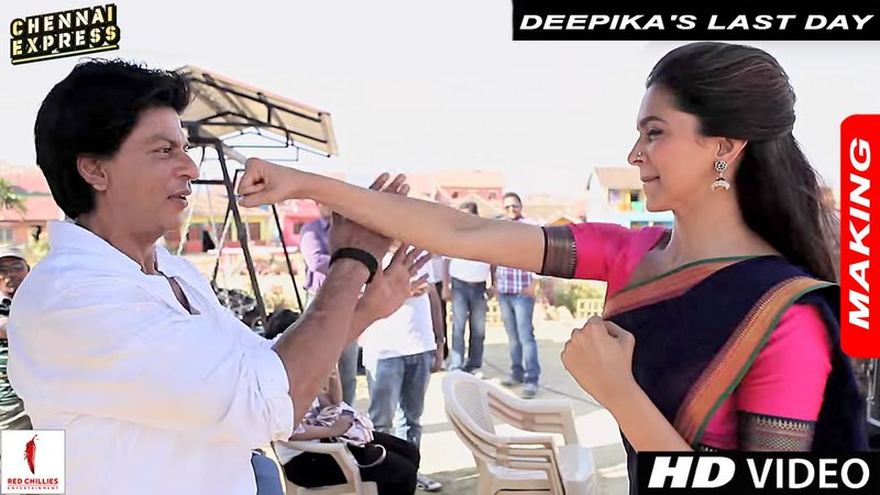 Deepika's Last Day on the Sets of Chennai Express with Shah Rukh Khan Rohit Shetty - Version 1