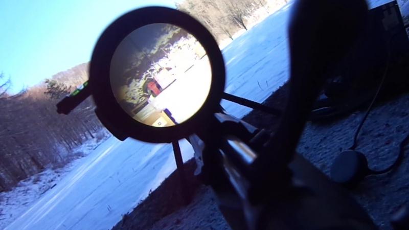 Pohľad cez optiku na 300 metrov