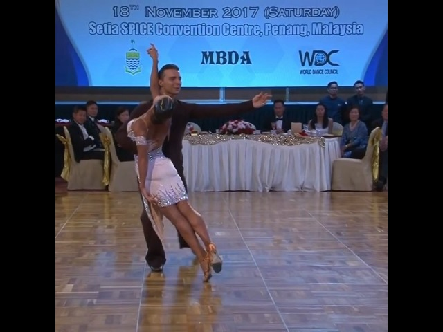 "DANCESPORT.RU on Instagram: ""Dorin Frecautanu Marina Sergeeva (RUS) at the World Championship Professional Latin in Rumba. Thanks WDC youtube ch..."