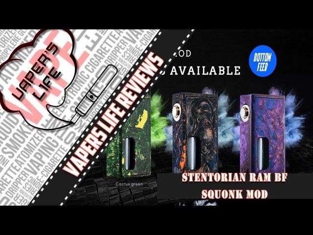 Обзор Stentorian Ram BF Squonker mod папироска рф Очень стильный сквонк